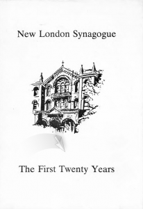 New London Synagogue The First Twenty Years book cover