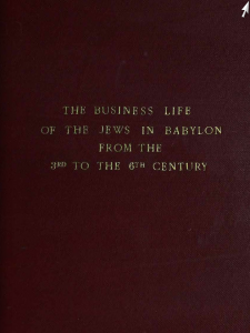 Online Books/The Business Life of the Jews in Babylon from the 3rd to the 6th Century