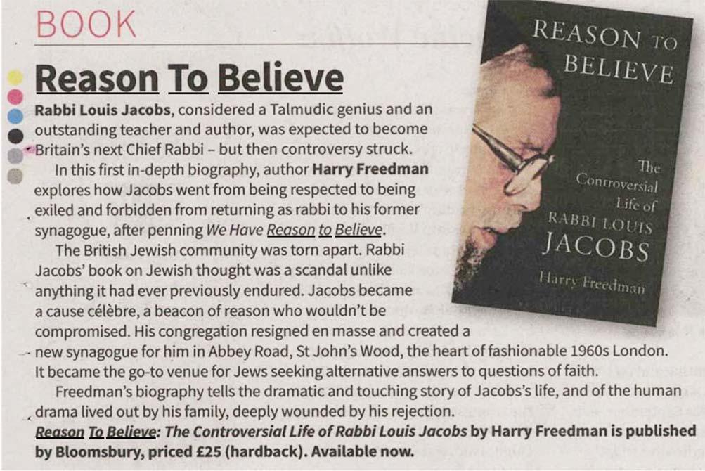 Reason To Believe Jewish News